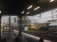 Stormy peak (highplains68) Tags: aus australia sydney trains nsw newsouthwales strathfield waratah station