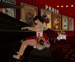 Lost Eden piano (anniedora651) Tags: piano paris playing posters feet frock