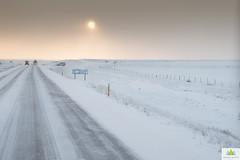 Sur la 1/On route 1/På väg 1 (Elf-8) Tags: iceland road winter snow slippery sun morning