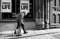 Choose life (phil anker) Tags: street life choose salisbury juxtapsition fujix70