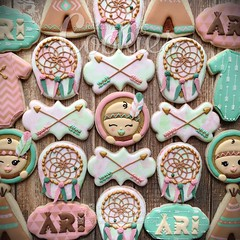 Baja Chic Set (cREEative_Cookies) Tags: baja chic set cookies decorated sugar royal icing custom edible art instagram baby shower birthday special babyshower harry potter elephant birds mason jar lace delicate flower sports its boy girl blessed baptism crib teddy bear kokeshi dolls sunshine clouds happy flowers girly boyish theme baked adorable roses daisies fondant booties shoes onesies bibs personalized sugarveil