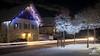 DSCF0899- Copyright Bruno Lavit 4 (kazimodo38) Tags: mairie neige night nuit plateau saintbernard sainthilaire église
