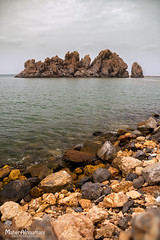 Yiti Beach   (mahernaamani) Tags: sea summer seascape beach nature water stone canon landscape cloudy nd polarizer oman muscat cpl 6d       yiti   mylovelycountry   yitibeach canon6d      myoman