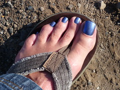 Holo in dirt-3 (toepaintguy) Tags: she blue boy man sexy male men guy feet girl beautiful kids fun foot amazing cool nice perfect paint pretty masculine sandals painted gorgeous nail great blues style polish mani glossy cover attractive finish stunning manicure pedicure he sandal polished stylish paints lacquer pedi lacquered polishes