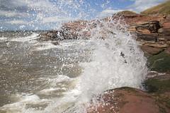 Hilbre Island Splash Zone (David Chennell) Tags: splash hightide wirral merseyside riverdee hilbreisland