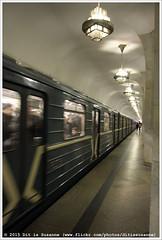 | Chertanovskaya (Dit is Suzanne) Tags: train subway metro russia availablelight moscow tube moskou trein rusland metrostation  moscowmetro    views100  onderwegineuropa ontheroadineurope img7616  beschikbaarlicht noncoloursincolour canoneos40d    24092013 sigma18250mm13563hsm serpukhovskotimiryazevskayaline  ditissuzanne chertanovskaya tsjertanovskaja
