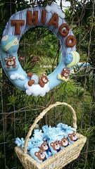 Kit do beb (Pina & Ju) Tags: handmade artesanato guirlanda bebe beb feltro patchwork maternidade enfeite sache ursinho lembrancinha