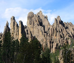 Rock Formations along Needles Highway - Custer State Park in Black Hills Region of South Dakota (danjdavis) Tags: southdakota blackhills needles custerstatepark rockformations needleshighway geologicalformations southdakotastatepark