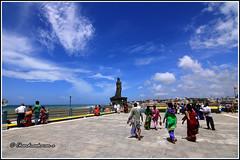 5536 - Towards Valluvar staute (chandrasekaran a 34 lakhs views Thanks to all) Tags: sea india saint statue tamilnadu philosopher kanyakumari thiruvalluvar tamils thirukural canoneos760d