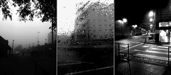 three (Johnson Cameraface) Tags: cameraphone autumn urban blackandwhite monochrome rain triptych samsung september doncaster 2015 johnsoncameraface johnsoncameraphoneface