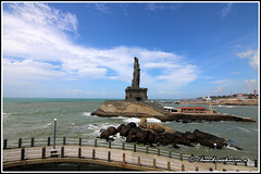 5540 - Statue of  Thiruvalluvar (chandrasekaran a 34 lakhs views Thanks to all) Tags: sea india saint statue sunrise tamilnadu philosopher kanyakumari thiruvalluvar bayofbengal vivekananda tamils vivekanandarock thirukural tokina1116mm canoneos760d