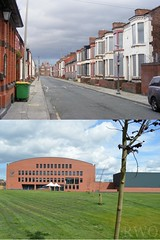 Mulliner Street, Edge Hill (Liverpool Suburbia) Tags: school liverpool terraces demolition demolished 2009 edgehill thenandnow merseyside 2015 terracedhousing terracedhouses mullinerstreet archbishopblanchschool