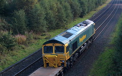 Photo of 66551 on rear, 6K04, Mossend Down Yard to Millburn Jn at Plean.