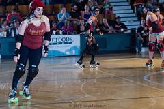 rebels_vs_panic_L3506425 1 (nocklebeast) Tags: ca usa santacruz rollerderby rollergirls zombies vampires skates organicpanic santacruzderbygirls redwoodrebels