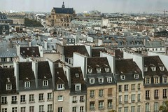 view of Paris , Paris roofs (jmlpyt) Tags: new old blue roof shadow chimney sky cloud sun sunlight paris france building tourism cup church window saint silhouette architecture living office store bedroom day cityscape cathedral room perspective bank right tourist ceiling architectural journey lumiere shutter styles et diminishing tulipe eustache batiments