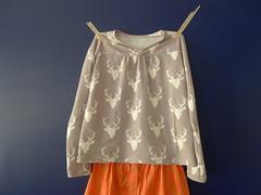 Buck Hopscotch Top (lkollett) Tags: top sewing skirt hopscotch fo olivers knitfabric
