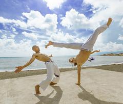 Beach Capoeira (E-C-K ART) Tags: beach fight capoeira kick kingston jamaica axe bullbay cativeiro