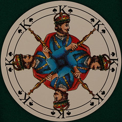 German Round Playing Card King of Spades (Leo Reynolds) Tags: playing deck card squaredcircle playingcard carddeck xleol30x sqset121 xxx2015xxx