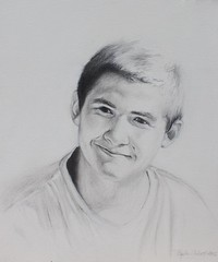 Ben (MsTiziana) Tags: portrait pencil acrylic faces drawing canvas realism