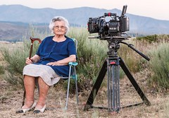 Mara (Eva Benimeli - Self-Portraits & Street Photography) Tags: portrait people espaa mountains cane lady landscape mujer spain chair grandmother retrato streetphotography abuela silla campo makingof vila cmara seora eldery cmaradevideo fotodecalle batn reddigitalcinemaredone