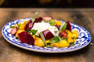 Roasted heirloom roots salad