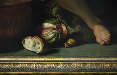 Gent, Oost-Vlaanderen, Museum voor Schone Kunsten, Rombouts, allegory of the senses, detail (groenling) Tags: fruit painting bread foot paint schilderij peinture allegory voet sense brood rombouts allegorie vrucht zintuig