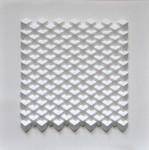 Herman Coppus papierreliëf 50x50cm