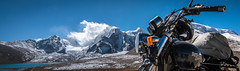 Trip to Heaven (rahul_th) Tags: lake mountains nikon hills himalayas sikkim enfield royalenfield northsikkim gurudongmar nikond5500