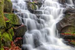 Virginia Water Cascades (BitRogue) Tags: autumn landscape waterfall nikon cascades hdr d800 virginiawater 1635mm capturenx2