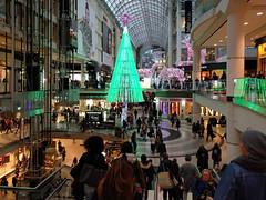 shopping (Ian Muttoo) Tags: christmas toronto ontario canada tree shopping gimp eatoncentre torontoeatoncentre shiftn 20151218162037shiftnedit