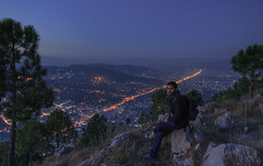 City Of Pines (Abbottabad) (Hasankazmi) Tags: pine night birdeye abbottabad sarbanhill