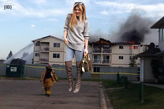 stalker (iffelbuffer) Tags: fire fighter boots blonde stalker stony plain giantess iffelbuffer