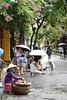 _DSC0633 (lnewman333) Tags: hoian vietnam centralvietnam sea southeastasia asia oldquarter woman vendor streetvendor hat conicalhat street food
