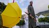 P1030190 (JESUSGX8) Tags: chaouen morroco marruecos street paraguas umbrella yellow blue travel lumix lumixgx8 summilux