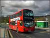 DW513, Addington Village Interchange (Jason 87030) Tags: london addington station village interchange weather 2016 march sky clouds red bus transport wrightbus gemini dwl513 lj13cco 466 caterhamonthehill uk england ransport light