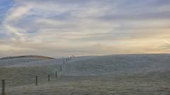 first frost - HFF! (lunaryuna) Tags: scotland landscape lothian hills frost firstfrost winter season seasonalchange fence fencefriday minimalism negativespace sky sunset sundown dusk clouds lightmood lunaryuna