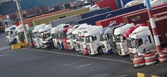 Gentlemen, start your engines... (stevenbrandist) Tags: truck trucks haulage liverpool portofliverpool merseyside