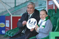 With Grace Warnock at Easter Road