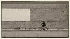 the cyclist (kurtwolf303) Tags: cyclist fahrradfahrer spain spanien costablanca outdoor einfarbig monochrome fotorahmen frame olympusem1 omd microfourthirds micro43 systemcamera mirrorlesscamera spiegellos unlimitedphotos topf25 250v10f topf50 topf75 500v20f digitalphotography kurtwolf303 fahrrad streetphotography strasenfotografie person flickrelite 750views 900views topf100 concrete beton 1000v40f topf150 1500v60f bicycle urban 2000views topf200 urbanlifeinmetropolis