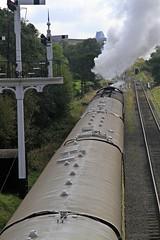 pulling away _MG_0255 (M0JRA) Tags: grosmont steam trains lines smoke graves grave yard people head stones