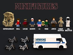 Lego Stranger Things - Minifigures (bradders1999) Tags: lego digital designer ldd bricks brick built stanger things strange thing season 2 pictures picture render monster monsters creature creatures vehicle van bike bicycle forest trees wood tree house building creative horror movie tv show netflix original series font new news 2017 byers brenner 11 eleven scary creepy 80s 1980s classic cult et star wars spielberg alien aliens