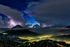 Agua Volcano (neritron) Tags: volcano volcanic night landscape lightning storm mountains clouds volcanes guatemala america hobbitenango antigua nubes yellow amarillo blue azul nikon d750
