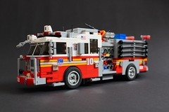 FDNY Engine 10 (sponki25) Tags: fdny fire department new york seagrave firetruck engine lego squad newyork nyc fahrzeug feuerwehr kme ferrara ladder truck tentruck
