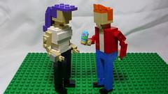 Leela & Fry (andresignatius) Tags: lego miniland moc futurama leela fry