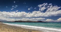 Shoreline (Ramon Quaedvlieg Photo) Tags: greece crete episkopi episkopibeach seascape landscape sky clouds sea water mediterranean rethymno rethymnon sand beach mountains shore shoreline aqua