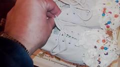 Plimsoll Pudding Videos (eurimcoplimsoll) Tags: plimsolls plimsoles dek canvas shoes sneakers cream custard gunge mess wreck trash pudding