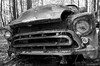 Old Car City on film (dpsager) Tags: bw chevrolet dpsagerphotography f1n film ga georgia kodak oldcarcity tmax100 junkyard
