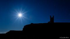 Full Moonburst - Moonrise, Lilburn Tower, Northumberland (Gary Woodburn) Tags: full moon star burst starburst dunstanburgh castle lilburn tower northumberland canon 6d