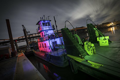 River Boat RGB (Notley) Tags: missouririver january night nocturne green light notleyhawkins notley 10thavenue missouri httpwwwnotleyhawkinscom missouriphotography notleyhawkinsphotography ruralphotography lightpainting redlight bluelight purplelight longexposure boat river daisybell salinecounty salinecountymissouri glasgow glasgowmissouri lights nightlights 光绘 光繪 lichtmalerei pinturadeluz ライトペインティング प्रकाशपेंटिंग ציוראור اللوحةالضوء 2017 dutchangle