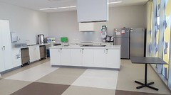 Community rooms - kitchen area. Also used as kitchen for conference room
